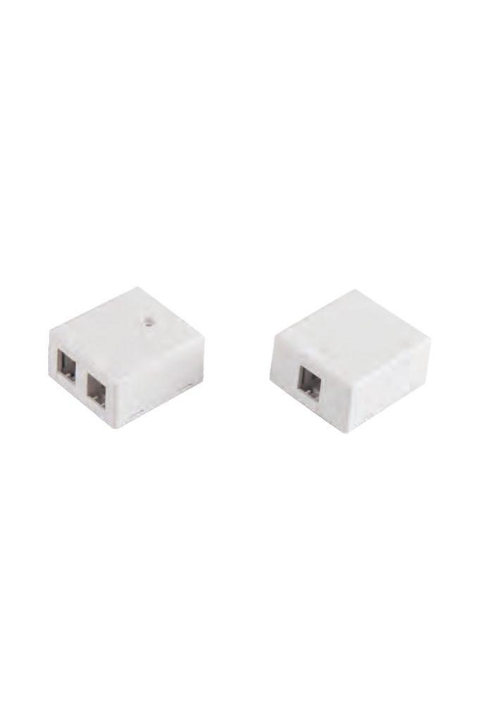 SMB-1P-C SMB-2P-C empty RJ45 outlet surface mount box virstinkine rozete lizdams tuscia 1xrj45 2xrj45 2