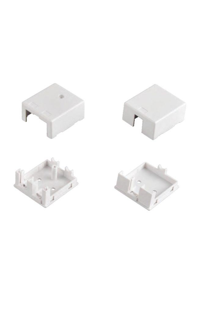 SMB-1P-C SMB-2P-C empty RJ45 outlet surface mount box virstinkine rozete lizdams tuscia 1xrj45 2xrj45
