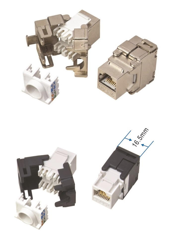Toolless keystones RJ45 UTP FTP STP