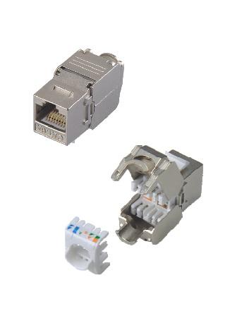 KJ-6S-TOL KJ-6A-TOL Toolless keystone jack RJ45 UTP FTP STP lizdas cat 6A