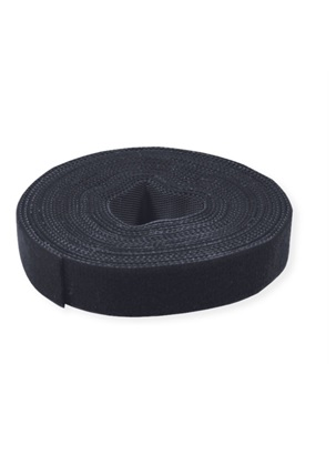 Velcro juosta tape 10mm 25m juoda black